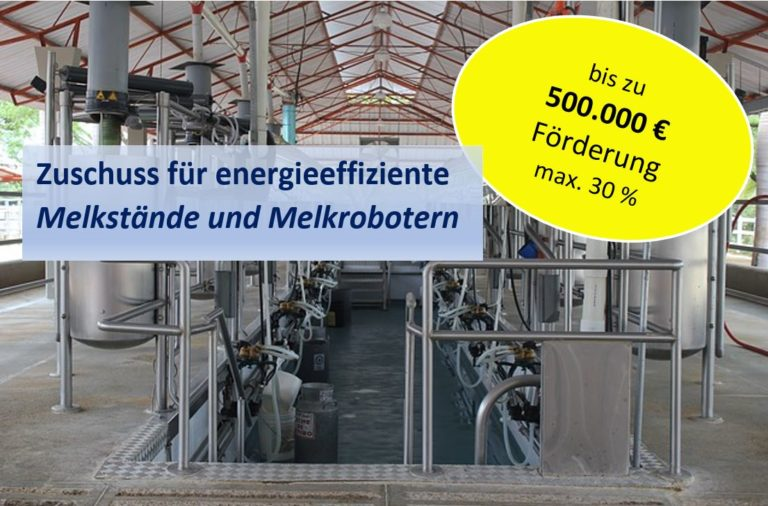 30 % Förderung für Melkroboter max. 500.000 €